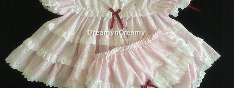 Adult Sissy Baby Eyelet Ruffles Dress