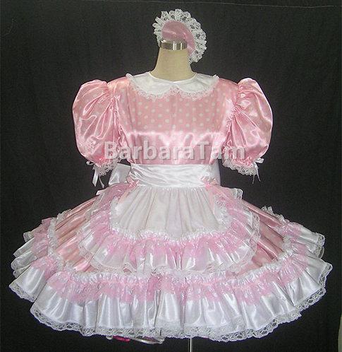 STK 04 BBT Adult Sissy Polka dots Maids Dress