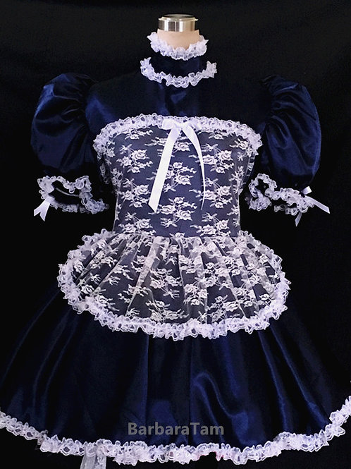 #A12 Adult Sissy Sexy French Lacy Miads Dress
