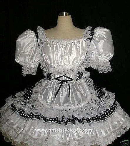 B63 Adult Sissy Polkadots Swiss Dress