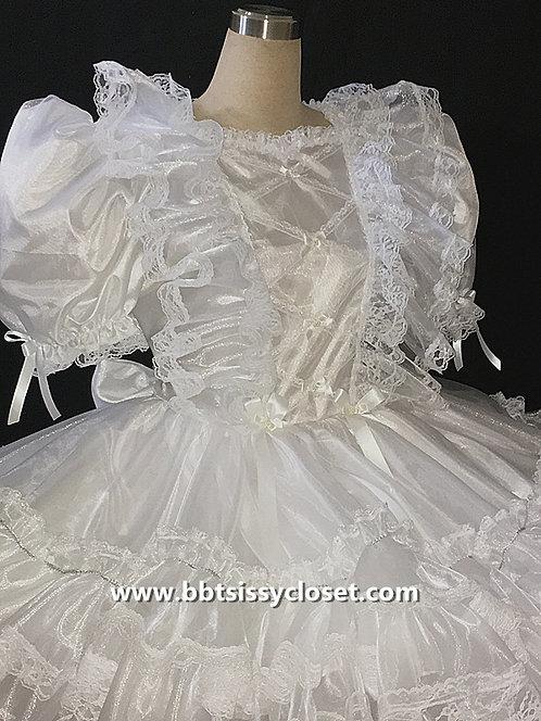 B61a BBT Adult Sissy Organza wedding Prissy Dress