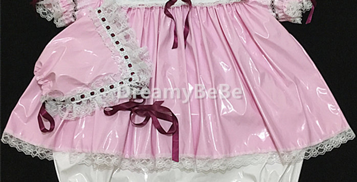 ADULT BABY SISSY ROMPER-DRESS 2 IN 1 ( with bonnet )
