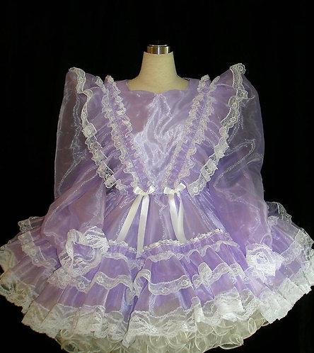 #B09 ADULT SISSY ORGANDY GIRL DRESS
