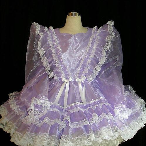 #B09 ADULT SISSY ORGANDY GIRL DRESS