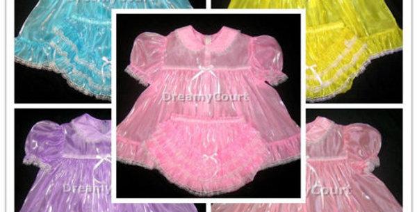 3 SETS - PACK Mirror Organza Sheer Baby Dress Set