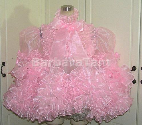 ADULT SISSY ORGANZA RUFFLY PRISSY DRESS