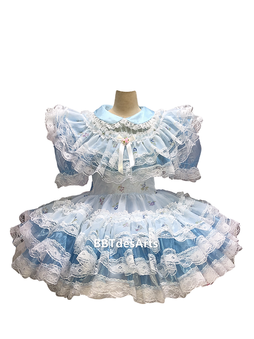 BBT Lavender Organza Girl Tea Dress