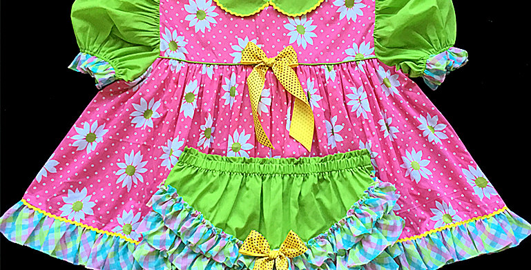 Adult Sissy Blossom Baby Dress Set