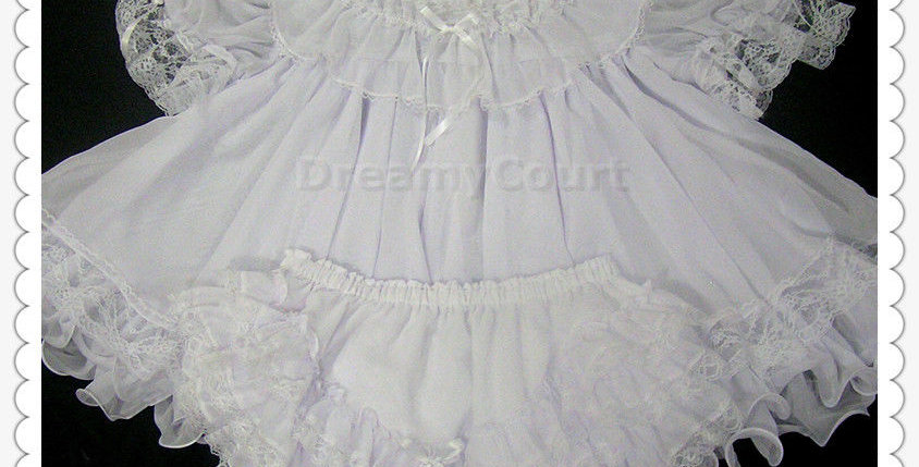 Adult Sissy Chiffon baby Flouncy Dress Set