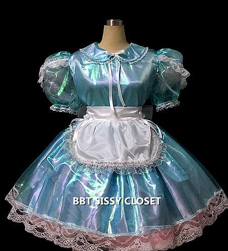 BBT Adult Sissy Mirror Organza Maid Dress