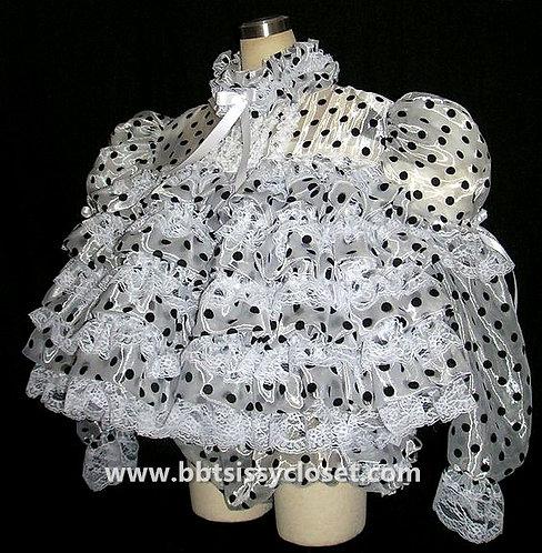 D25 BBT Adult Sissy Polkadots Ruffles Prissy Dress
