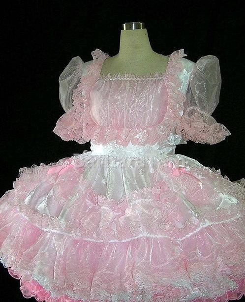 #B46 ADULT SISSY TAFFETA SWISS GIRL DRESS