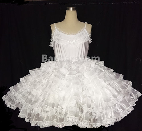 NEW ~ ADULT SISSY 50S' FRILLY PETTICOAT # P-01