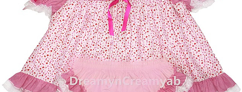 ADULT BABY SWEET HEART DRESS SET
