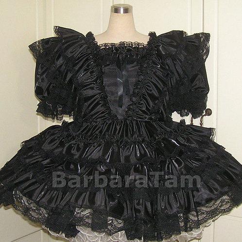 #B35 ADULT SISSY RUFFLES GOTHIC DRESS