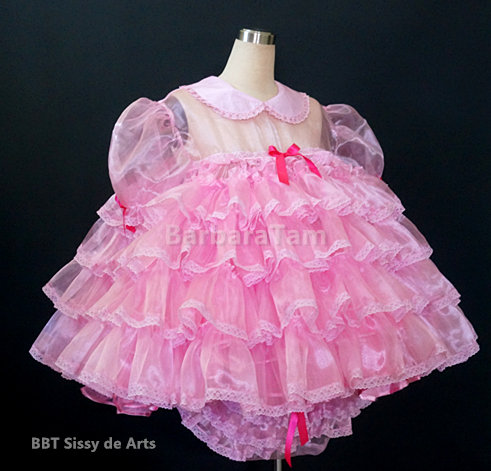 #B22P ADULT SISSY RUFFLE BABY DRESS SET