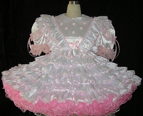 #D09 ADULT SISSY SATIN INNOCENT BABY PRISSY DRESS