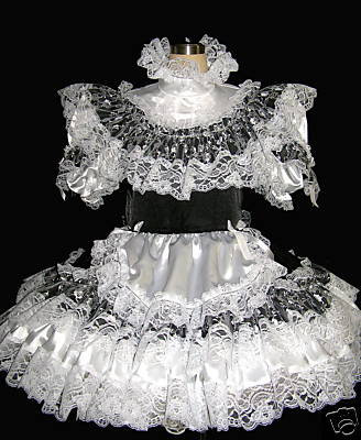 #B14 ADULT SISSY FRENCH MAID DRESS