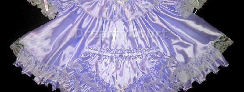 Adult sissy Flouncy Baby Dress Set