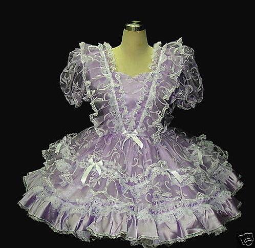 #B47 ADULT SISSY VICTORIAN LAVENDA DRESS