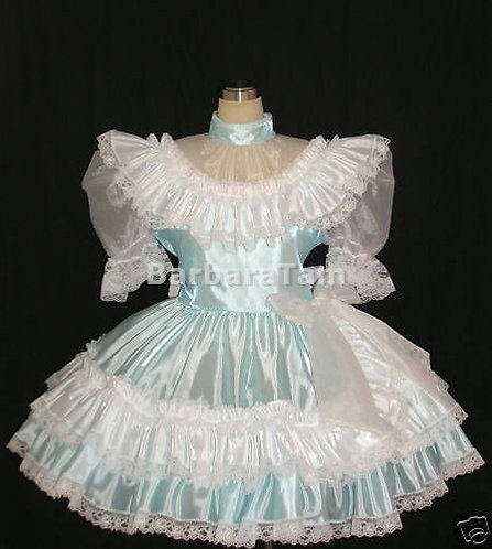 #B06 ADULT SISSY RUFFLES SQUARE DANCE DRESS