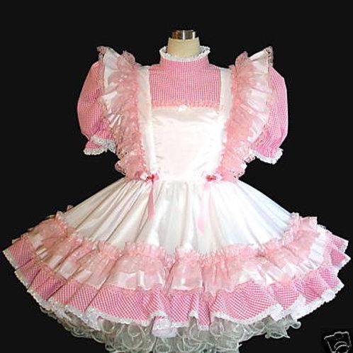 #B28 ADULT SISSY RUFFLE BUTT PINAFORE DRESS