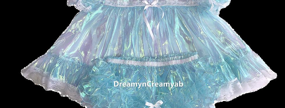 D & C Adult Baby Sky Blue Mirror Ruffles Dress