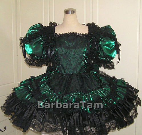 C49 BBT Adult Sissy French Taffeta Maid Dress