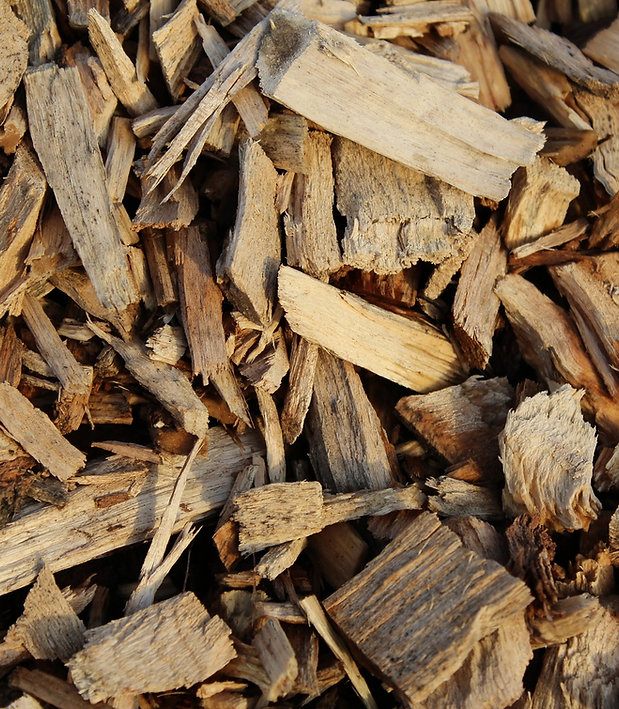 Corteza y virutas de madera