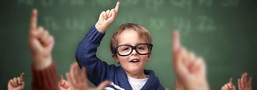 kid raising hand