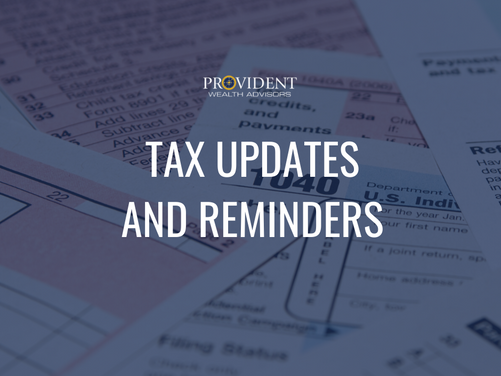 Tax Updates and Reminders