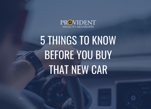 Five Things You Must Know Before You Buy That New Car