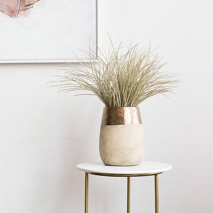 Metallic Dipped Vase