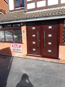 Modern Rosewood Double Doors