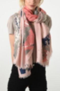 Beautiful Pink Patterned Scarf