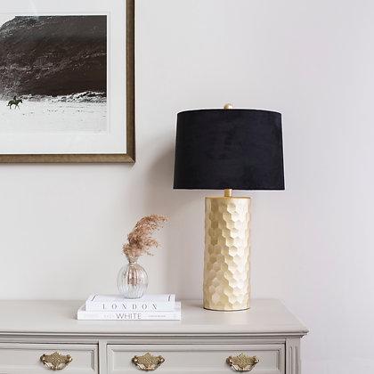 Gold Honeycomb Lamp