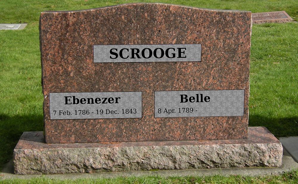 Final Date Monument Gravestone Marker