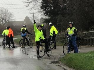 A damp ride to Waltham Stores