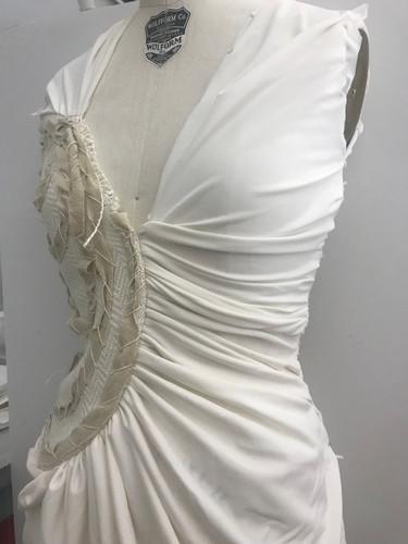 Gathered Knit Drape Dress 2