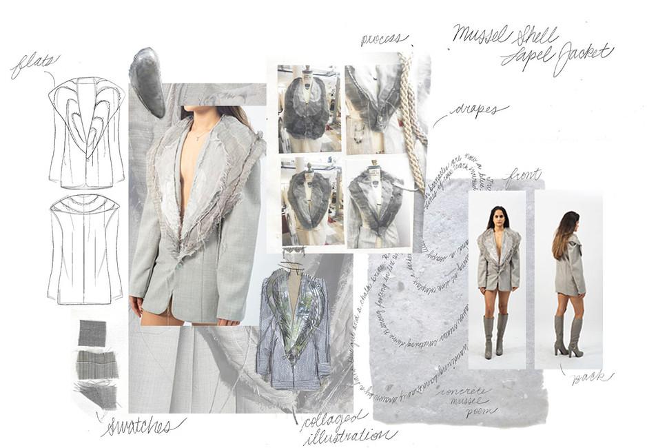 Mussel Shell Lapel Jacket Portfolio Page