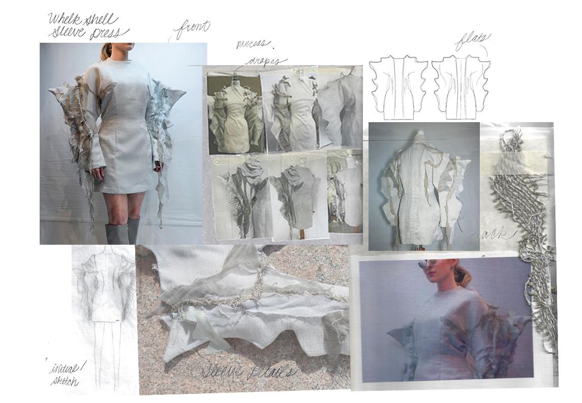 Whelk Shell Sleeve Dress Portfolio Page