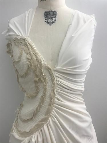 Gathered Knit Dress Drape