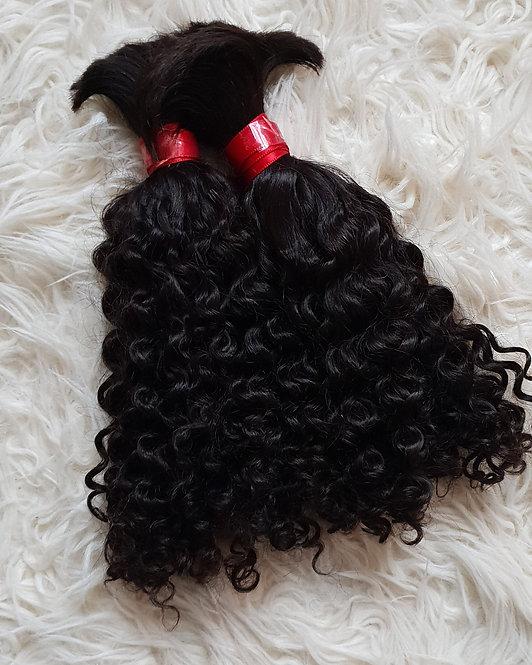 Cacho-crespo cabelo natural Humano 200g 35 cm