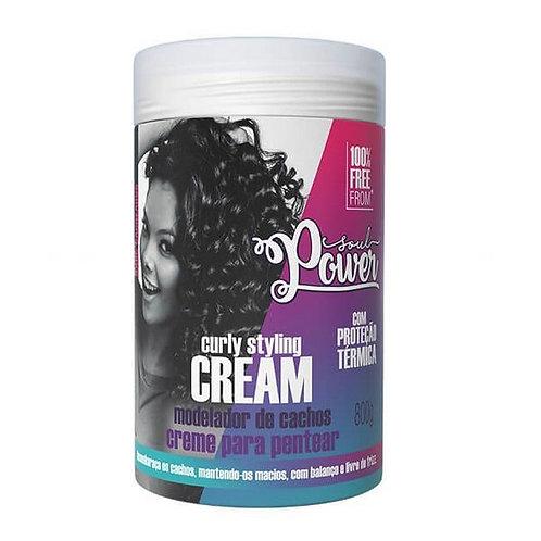 Curly Styling Cream Creme para Pentear Soul Power 800g