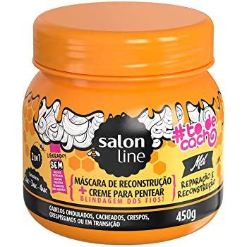 Máscara e creme de pentear de Reconstrução Tô de Cacho Mel - Salon Line 450g