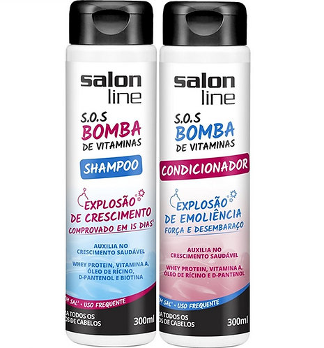 Salon line shampoo e condicionador 300ml