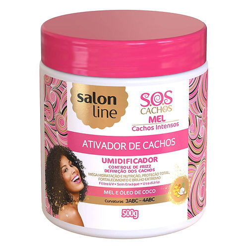 Ativador de Cachos S.O.S Cachos Mel Cachos Intensos Salon Line 500g