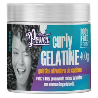 SOUL POWER  Gelatina Ativadora de Cachos Soul Power - Curly Gelatine - 400g