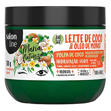Máscara de Tratamento Salon Line Maria Natureza Leite de Coco E Óleo de Monoi 30