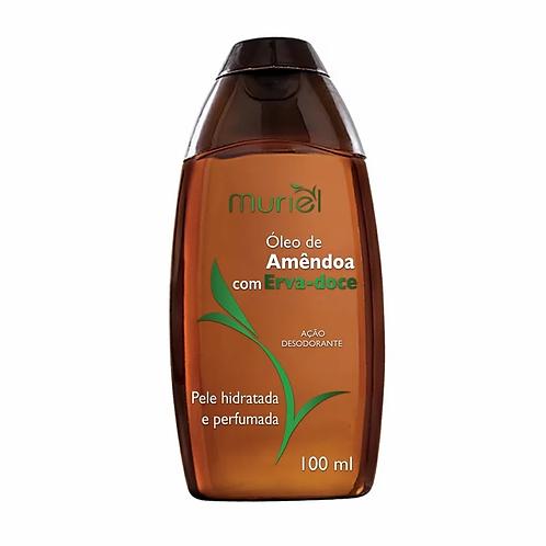 óleo corporal de amêndoa com erva doce, hidratante e perfumado